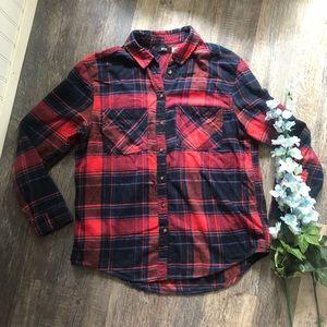 BDG | Red Plaid Flannel Shirt